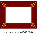 red border frame deco plaque.... | Shutterstock .eps vector #400482184