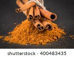 Cinnamon Sticks With Powder On...