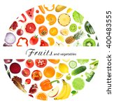 fresh fruits and vegetables.... | Shutterstock . vector #400483555