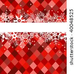 red winter banner with... | Shutterstock .eps vector #40048525