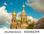 church of the savior on blood... | Shutterstock . vector #400486399