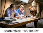classmates working on a project ... | Shutterstock . vector #400486729