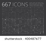 big set of simple icons various ... | Shutterstock .eps vector #400487677
