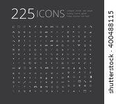 big universal simple icon set... | Shutterstock .eps vector #400488115