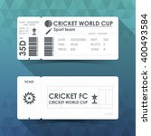 Cricket Ticket Card Design....