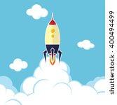 rocket ship launch | Shutterstock .eps vector #400494499