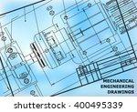 mechanical engineering drawings ... | Shutterstock .eps vector #400495339