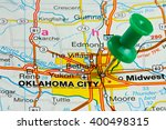 oklahoma city highlighted with...   Shutterstock . vector #400498315