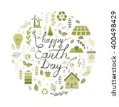 happy earth day. calligraphy.... | Shutterstock .eps vector #400498429
