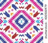 bright hand drawn tribal... | Shutterstock .eps vector #400500979