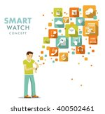 smart watch using concept.... | Shutterstock .eps vector #400502461
