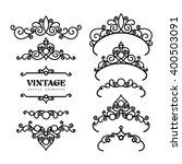 vintage calligraphic vignettes  ... | Shutterstock .eps vector #400503091