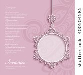 elegant lace decoration  lacy... | Shutterstock .eps vector #400504585