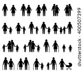 people family icons set | Shutterstock .eps vector #400507399