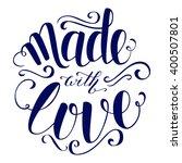 colorful brush lettering.... | Shutterstock .eps vector #400507801