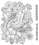 Fantasy Flowers Coloring Page....
