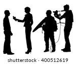 journalist news reporter... | Shutterstock .eps vector #400512619