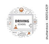 driving school logo template... | Shutterstock .eps vector #400514329