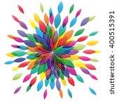 vector flower in abstract shape.... | Shutterstock .eps vector #400515391