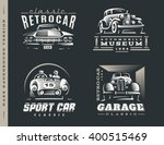 classic car logo illustrations... | Shutterstock .eps vector #400515469