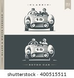 classic car illustration on... | Shutterstock .eps vector #400515511
