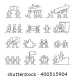 business icons set of sketch... | Shutterstock .eps vector #400515904