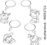 vector set of little dreamers | Shutterstock .eps vector #40051711