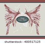unique boho poster. vector art. ... | Shutterstock .eps vector #400517125