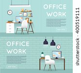 office interior with designer... | Shutterstock .eps vector #400519111