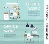 office interior with designer... | Shutterstock .eps vector #400519111