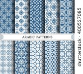arabic vector pattern pattern... | Shutterstock .eps vector #400527085