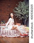 portrait of beautiful brunette...   Shutterstock . vector #400530205