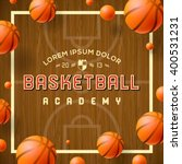 basketball academy flyer or... | Shutterstock .eps vector #400531231