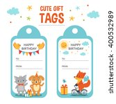 Birthday Gift Tags With Text...