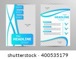 vector flyer template design.... | Shutterstock .eps vector #400535179