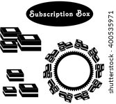 subscription boxes. vector.  | Shutterstock .eps vector #400535971