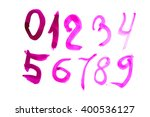 numbers set in hand drawn... | Shutterstock . vector #400536127