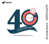 40th years anniversary label in ... | Shutterstock .eps vector #400541659