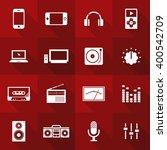 vector flat icon set   audio  | Shutterstock .eps vector #400542709