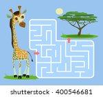 labyrinth game for children... | Shutterstock .eps vector #400546681