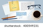 realistic vector  workplace ... | Shutterstock .eps vector #400549231