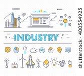 modern industry thin block line ...   Shutterstock .eps vector #400554925
