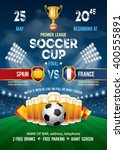poster with soccer ball and... | Shutterstock .eps vector #400555891