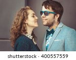 portrait of romantic couple...   Shutterstock . vector #400557559