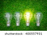 eco concept   light bulb grow... | Shutterstock . vector #400557931