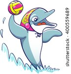 Cool Athletic Dolphin Wearing ...