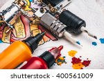 replacement supplies for tattoo ... | Shutterstock . vector #400561009