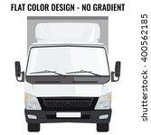 vector small truck front view.... | Shutterstock .eps vector #400562185