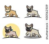 french bulldog cartoon mascot... | Shutterstock .eps vector #400562509