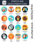 startup and development icons.... | Shutterstock .eps vector #400562944